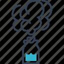 bang, chemistry, experiment, smoke, study icon