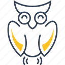 bird, chemistry, owl icon