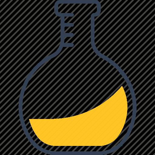 bottle, chemistry, fluid icon
