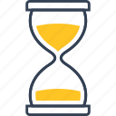 chemistry, clock, hourglass icon