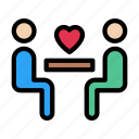 couple, love, dinner, dating, propose icon