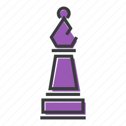 bishop, chess, game, piece, play, strategy icon