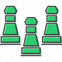 chess, game, pawn, piece, pieces, play, strategy icon