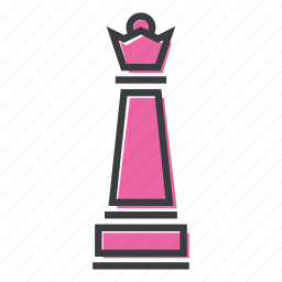 chess, game, piece, play, queen, strategy icon