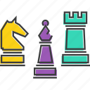 bishop, chess, game, knight, piece, pieces, rook