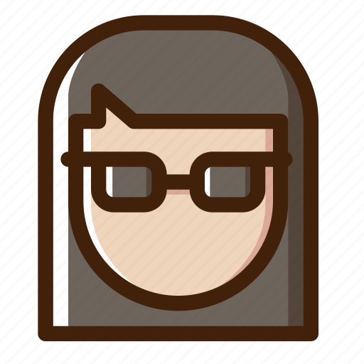 chess, female, game, glasses, player, sport, woman icon