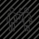 argue, conflict, couple, divorce, misunderstanding, parents, quarrel icon