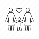 adoption, family, homosexual, lesbian, lgbt, parenting, parents icon