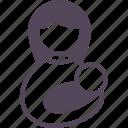 baby, breastfeed, breastfeeding, mom, mother, parenting, sleep icon