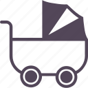 baby, care, children, happy, kid, parenting, stroller icon