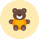 bear, animal, baby, infant, kid, teddy, toy