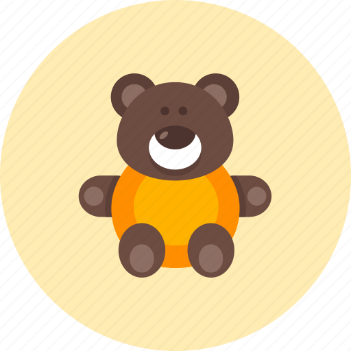 animal, baby, bear, infant, kid, teddy, toy icon