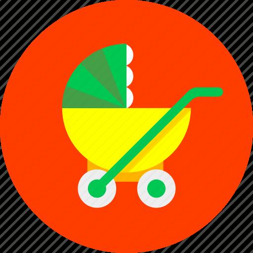 baby, children, infant, mother, newborn, pram, toy icon