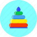 game, infant, kids, newborn, play, pyramid, toy icon