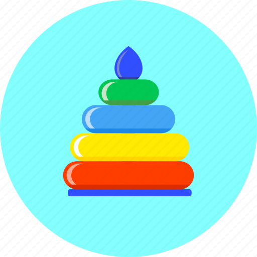 Pyramid, toy, game, infant, kids, newborn, play icon - Download on Iconfinder