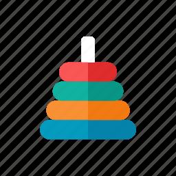 rings, stacking icon
