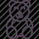 bear, children, happy, kid, play, teddy icon