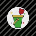 bucket, childhood, plastic, sand, sandbox, shovel, toy icon