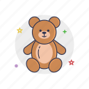 bear, cute, dool, little, mascot, toy, young icon