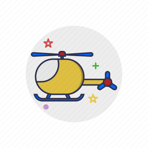 aircraft, aviation, copter, flight, helicopter, toy, transport icon
