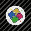 element, idea, part, piece, puzzle, template, toy icon