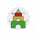 baby, child, education, game, play, pyramid, toy icon