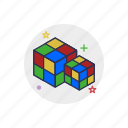cube, dice, education, game, rubic, square, toy icon