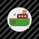 boat, child, nautical, sea, ship, submarine, toy icon