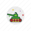 army, cannon, gun, tank, toy, truck, vehicle icon
