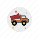 automobile, childhood, toy, transport, truck, vehicle, wheel icon