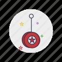 childhood, circle, play, round, string, toy, yoyo icon