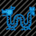 animal, china, dragon, myth, travel icon