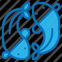 animal, china, fish, swim, zodiac icon