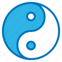china, religious, tao, yang, yin, zen icon