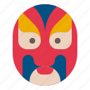 china, chinese, mask, theater, tradition icon