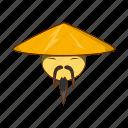 asian, cartoon, china, chinese, hat, man, traditional