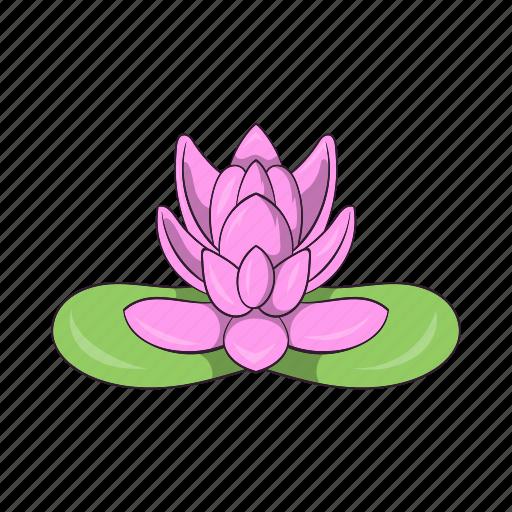 cartoon, floral, flower, lotus, nature, petal, plant icon