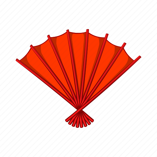 asian, cartoon, chinese, fan, japanese, red, traditional icon