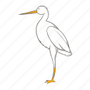 animal, bird, cartoon, chinese, crane, nature, wing icon