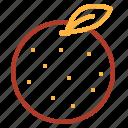 asian, chinese, decorations, fruit, new, orange, year icon