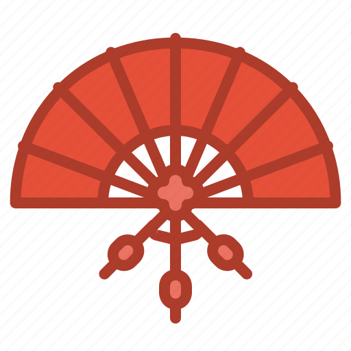 asian, chinese, decorations, fan, flamenco icon
