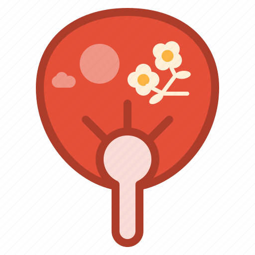 asian, chinese, decorations, fan, hand, new, year icon