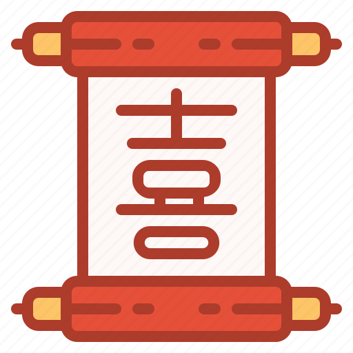 asian, chinese, decorations, new, scripture, year icon