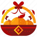 basket, celebration, chinese, festival, food, new, year icon