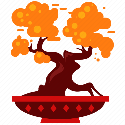 bonsai, celebration, chinese, new, tree, year icon