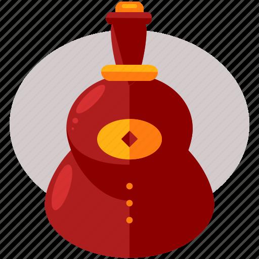 bottle, celebration, chinese, drink, festival, new, year icon