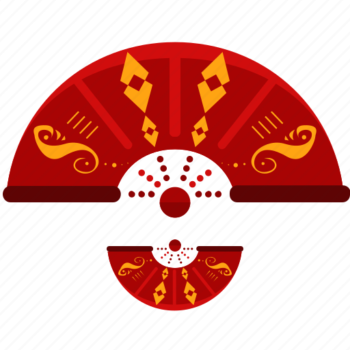 celebration, chinese, decoration, fan, festival, new, year icon