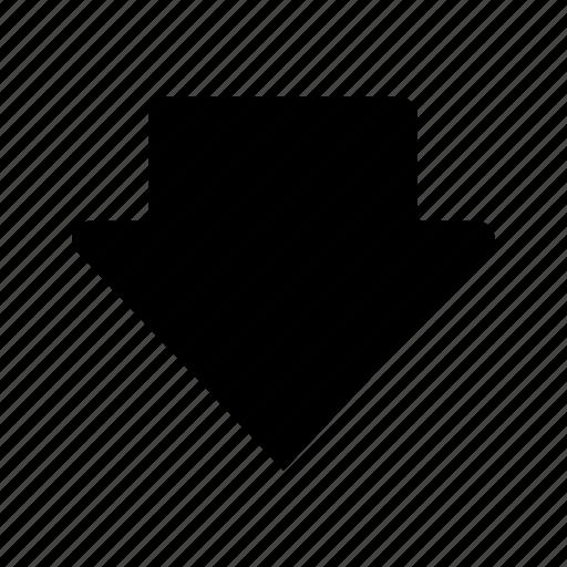 arrow, down, downlod icon