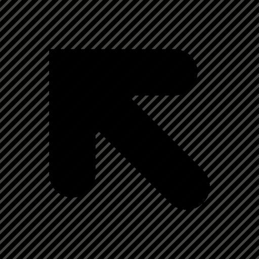 arrow, left, up icon