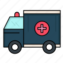 ambulance, help, medical, truck, van icon
